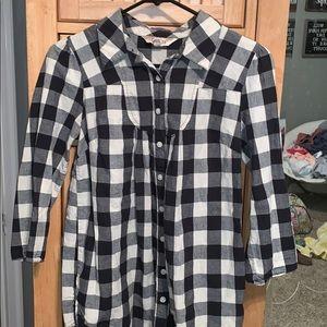 Black & White Checkered Flannel